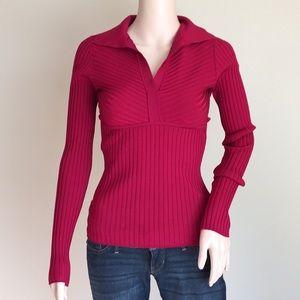 INC red silk sweater